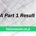 BA Part 1 Result 2018