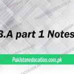ba part 1 notes