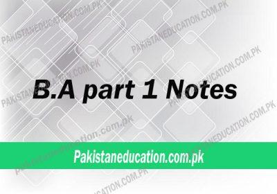 b.a part 1 notes
