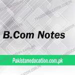 BCom Notes