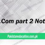 BCom Part 2 Notes