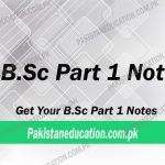 BSc Part 1 Notes