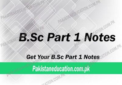 B.Sc Part 1 Notes