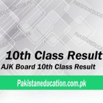 10th Class Result AJK Board