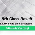 9th class result AJK Board