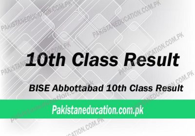 10th Class Result Abbottabad Board