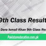 9th class result Dera Ismail Khan Board