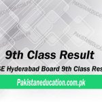 9th Class Result hyderabad board