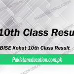 10th Class Result Kohat Board