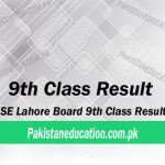 9th Class Result Lahore Board