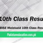 10th Class Result Malakand Board