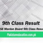 9th class result Mardan Board