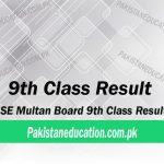 9th class result Multan Board