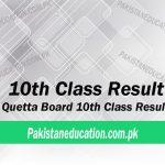 10th Class Result Quetta Board