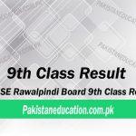9th class result Rawalpindi Board