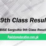 9th class result Sargodha Board
