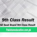9th class result Swat Board