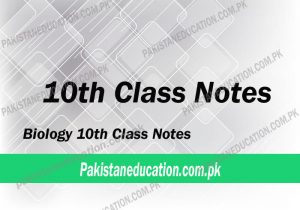 10th Class Biology notes