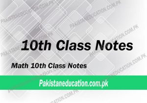 10th Class Math Notes