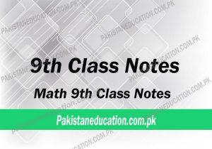 9th class math notes