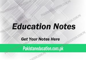 education notes