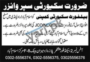 Belfort Security Company Jobs In Rawalpindi
