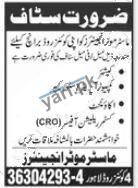 Cashier Computer Operator & Store Keeper Jobs in Lahore