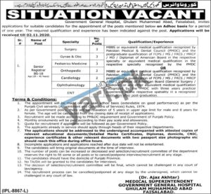 Government General Hospital Jobs in Faisalabad