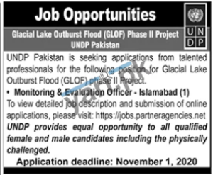 Monitoring & Evaluation Officer Jobs in Islamabad