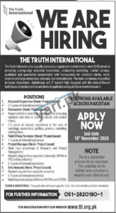 Researcher Jobs in Islamabad