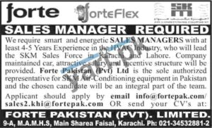 Sales Manager & Manager Jobs in Lahore