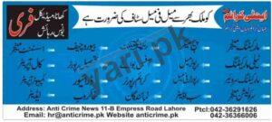 Anti Crime Pakistan Jobs in Islamabad