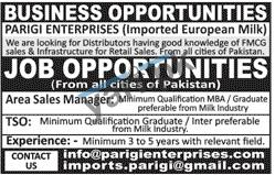 Area Sales Manager & Territory Sales Officer Jobs in Rawalpindi