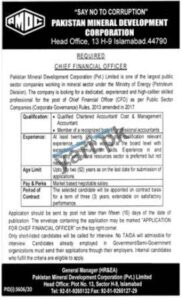 Chief Financial Officer Job in PMDC