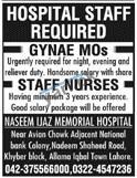 Medical Staff Jobs in Naseem Ijaz Memorial Hospital
