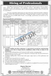 Programming Manager & Account Manager Govt Jobs in Karachi