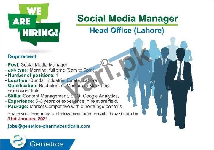 Social Media Manager Jobs in Lahore