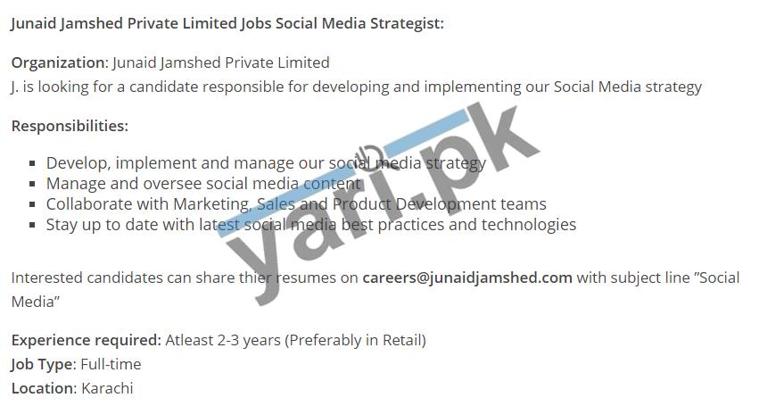 Social Media Manager Job in Karachi